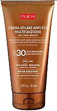 Perfumería y cosmética Crema de protección solar para rostro, cuello y escote, resistente al agua - Pupa Anti-Aging Sunscreen Cream SPF 30