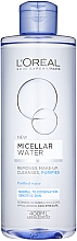 Perfumería y cosmética Agua micelar desmaquillante hipoalergénica para rostro, ojos y labios - L'Oreal Paris Micellar Water Normal To Combination