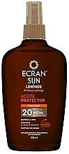 Perfumería y cosmética Aceite bronceador con protección solar - Ecran Sun Lemonoil Oil Spray SPF20