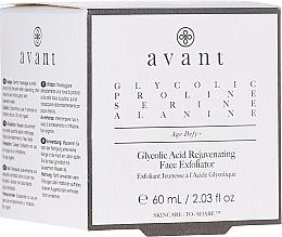 Perfumería y cosmética Exfoliante facial rejuvenecedor con ácido glicólico - Avant Skincare Glycolic Acid Rejuvenating Face Exfoliator