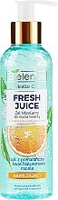 Perfumería y cosmética Gel micelar para rostro con agua cítrica bioactiva y ácido hialurónico - Bielenda Fresh Juice Micellar Gel Orange