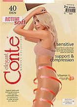 Perfumería y cosmética Pantis Active Soft, 40 Den, natural - Conte