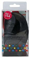 Perfumería y cosmética Cepillo de pelo desenredante, negro-azul - Rolling Hills Compact Detangling Brush Black