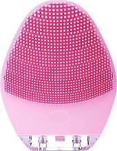 Perfumería y cosmética Cepillo de silicona para limpieza facial, BR-040, rosa - Lewer Silicone Facial Cleansing Brush