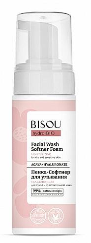 Espuma facial limpiadora hidratante con ácido hialurónico - Bisou Hydro Bio Facial Wash Softner Foam