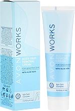Perfumería y cosmética Crema depilatoria con extracto de aloe vera para pieles sensibles - Avon Works Body Hair Removal Cream