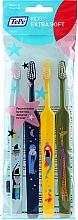 Perfumería y cosmética Cepillos dentales extra suaves (azul claro, azul oscuro, verde y amarillo), 4uds. - TePe Kids Extra Soft