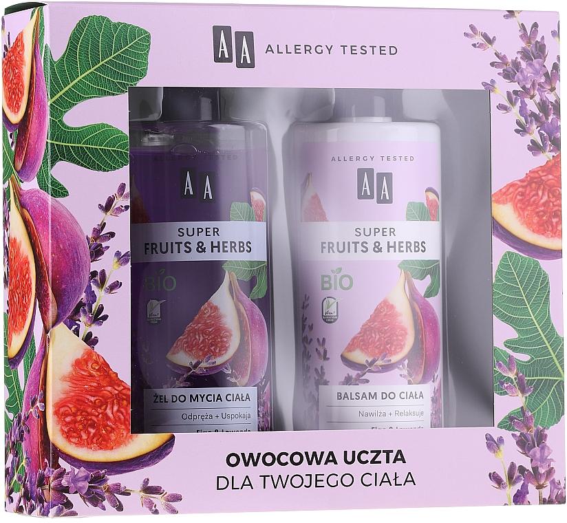 Set corporal (gel de ducha/500ml + loción/500ml) - AA Super Fruits&Herbs Set