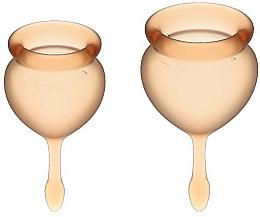 Perfumería y cosmética Copas menstruales, naranja, 2uds. - Satisfyer Feel Good Menstrual Cup Orange