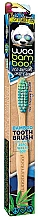 Perfumería y cosmética Cepillo dental de bambú de dureza media, azul y verde - Woobamboo Toothbrush Zero Waste Adult Bamboo Medium Bristle