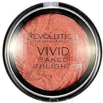 Iluminador cocido vegano facial compacto en polvo - Makeup Revolution Highlighting