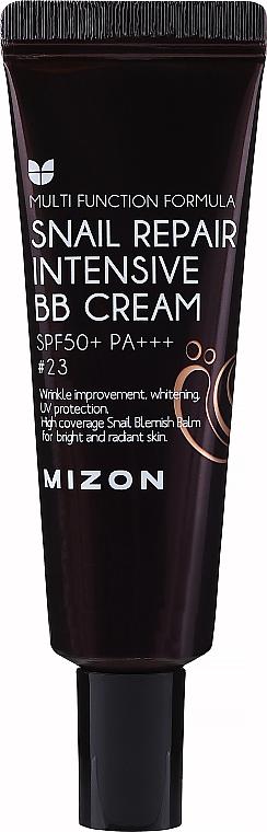 BB crema facial reparadora intensiva con baba de caracol, SPF50+ PA+++ - Mizon Snail Repair Intensive BB Cream SPF50+ PA+++