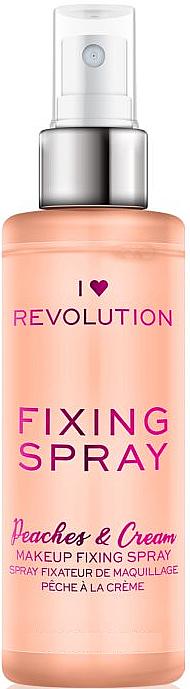 Spray fijador de maquillaje refrescante e hidratante con aroma a melocotón - I Heart Revolution Fixing Spray Peaches & Cream