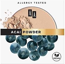 Perfumería y cosmética Polvo facial compacto con extracto de bayas de acai, efecto mate - AA Acai Powder