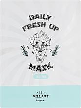 Perfumería y cosmética Mascarilla facial de tejido con extracto de árbol de té - Village 11 Factory Daily Fresh Up Mask Tea Tree