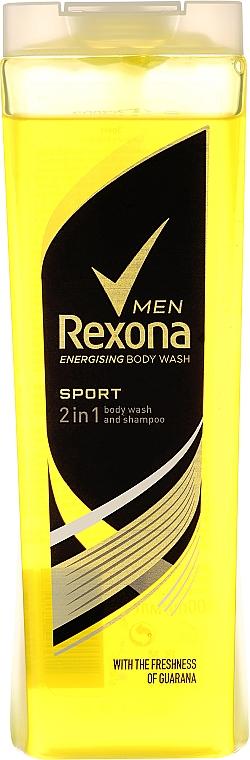 Champú y gel de ducha 2en1 con guaraná y ácido cítrico - Rexona Men Sport Shower Gel Body & Hair — imagen N3