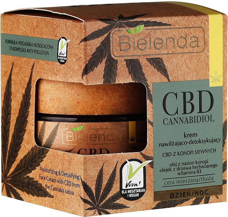 Crema facial antipolución con aceite de semila de cáñamo, árbol de té y vitamina B3 - Bielenda CBD Cannabidiol Cream