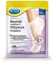Perfumería y cosmética Mascarilla calcetín para pies con aceite de lavanda, 1 par - Scholl Expert Care Foot Mask