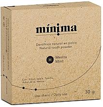 Perfumería y cosmética Dentífrico natural en polvo con extracto de menta - Minima Organics Natural Tooth Powder
