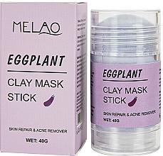 Perfumería y cosmética Mascarilla stick facial antiacné con arcilla y extracto de berenjena - Melao Eggplant Clay Mask Stick
