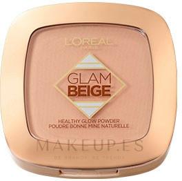 Polvo facial compcto - L'Oreal Paris Glam Beige Healthy Glow Powder — imagen Light