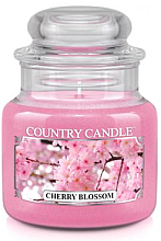Perfumería y cosmética Vela en tarro con aroma a rosa & sándalo - Country Candle Cherry Blossom