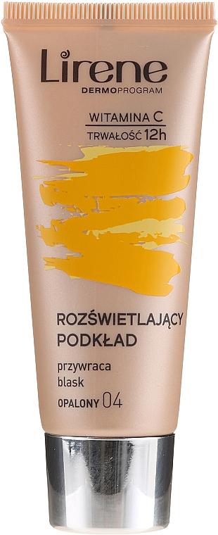 Base de maquillaje iluminadora con vitamina C - Lirene Brightening Fluid with Vitamin C
