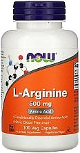 Perfumería y cosmética Complemento alimenticio en cápsulas L-arginina, 500 mg - Now Foods L-Arginine Veg Capsules