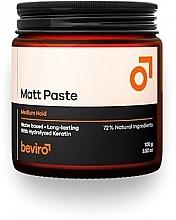 Perfumería y cosmética Pasta natural moldeadora, fijación media - Beviro Matt Paste Medium Hold