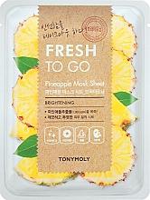 Perfumería y cosmética Mascarilla facial refrescante de tejido con extracto de piña - Tony Moly Fresh To Go Mask Sheet Pineapple