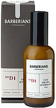 Perfumería y cosmética Crema aftershave con aceite de argán y aloe vera - Barberians. №D1 Face Cream & Aftershave