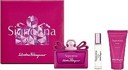 Perfumería y cosmética Salvatore Ferragamo Signorina Ribelle - Set (eau de parfum/100ml + eau de parfum/mini/10ml + loción corporal/50ml)