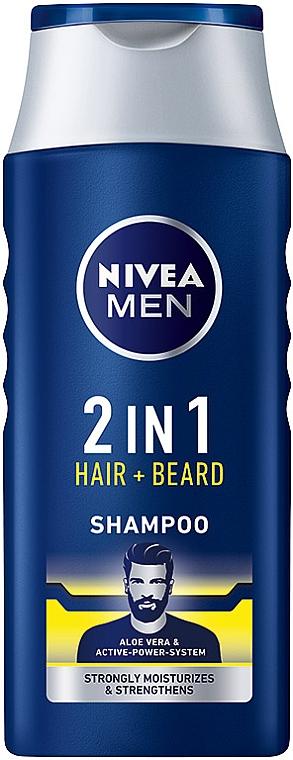 Champú para cabello y barba con jugo de aloe vera - NIVEA Men 2 in 1 Protect & Care Shampoo