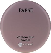 Perfumería y cosmética Contorno facial en polvo con acabado satinado - Paese Contour Duo Powder