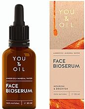 Perfumería y cosmética Sérum facial nutritivo e iluminador con aceite de ámbar y agua mineral - You & Oil Amber. Face Bioserum