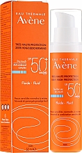 Perfumería y cosmética Fluido facial de protección solar, SPF 50 - Avene Eau Thermale Sun Care Fluid SPF50