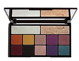 Perfumería y cosmética Paleta de sobras de ojos e iluminadores con espejo - Makeup Revolution X Carmi Kiss Of Fire Palette