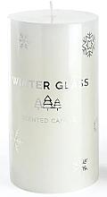 Perfumería y cosmética Vela aromática, blanca, 9x8cm - Artman Winter Glass