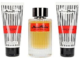 Perfumería y cosmética Set de regalo - Rochas Moustache (eau de parfum/125ml+gel de ducha/100ml+after shave/100ml)