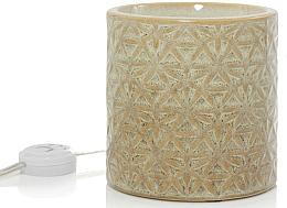 Perfumería y cosmética Lámpara eléctrica de vidrio, metal y cerámica calentadora de cera, 13x13cm - Yankee Candle Belmont