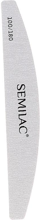 Lima de uñas semicírculo blanca, 100/180 - Semilac
