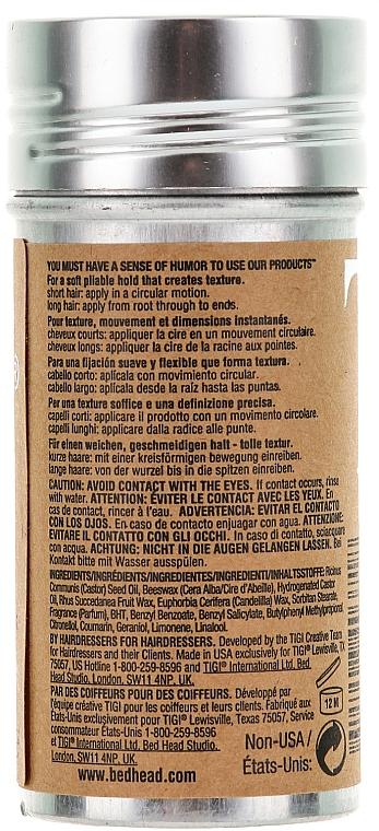 Stick para peinado con cera de abejas y aceite de ricino - Tigi Bed Head Wax Stick — imagen N2
