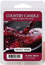 Perfumería y cosmética Cera para lámpara aromática con fragancia a vainilla y violeta - Country Candle Pinot Noir Wax Melts