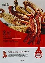 Perfumería y cosmética Mascarilla facial de tejido con extracto de ginseng rojo - Esfolio Red Ginseng Essence Mask Sheet