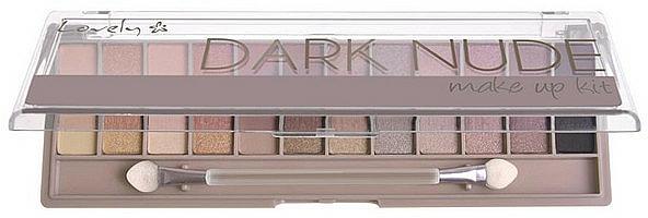 Paleta de sombras de ojos con aplicador - Lovely Dark Nude Make Up Kit