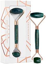 Perfumería y cosmética Rodillo de masaje facial de venturina - Crystallove Aventurine Roller