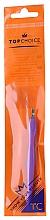 Perfumería y cosmética Cortacutículas con mango de plástico 7248, lila - Top Choice