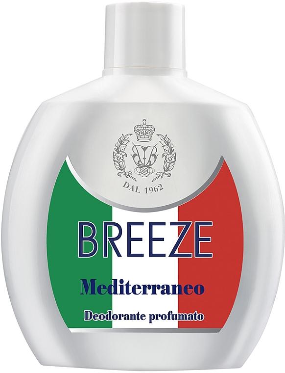 Breeze Squeeze Deodorant Mediterraneo - Desodorante perfumado sin gas ni sales de aluminio