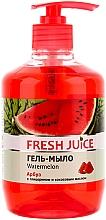 Perfumería y cosmética Jabón líquido con extracto de sandía, glicerina y aceite de coco - Fresh Juice Watermelon