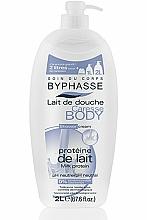 Perfumería y cosmética Crema de ducha con proteínas de leche - Byphasse Caresse Shower Cream